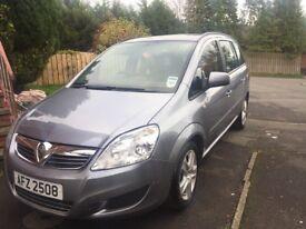 Nov 09 Vauxhall zafira 7 seater