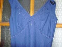 Blue Sleeveless Dress as new