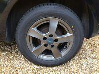 4 Tyres & Alloys (nearly new)