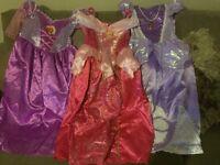 Sleeping Beauty,Rapunzel & Sofia dresses age 5-6