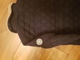 Brand new! Navy Regatta quilted coat with fur lined collar.