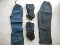 Waterproof trousers and gaiters