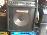 BEHRINGER ULTRA BASS WORKSTATION AMP BXL 900A 90 Watts