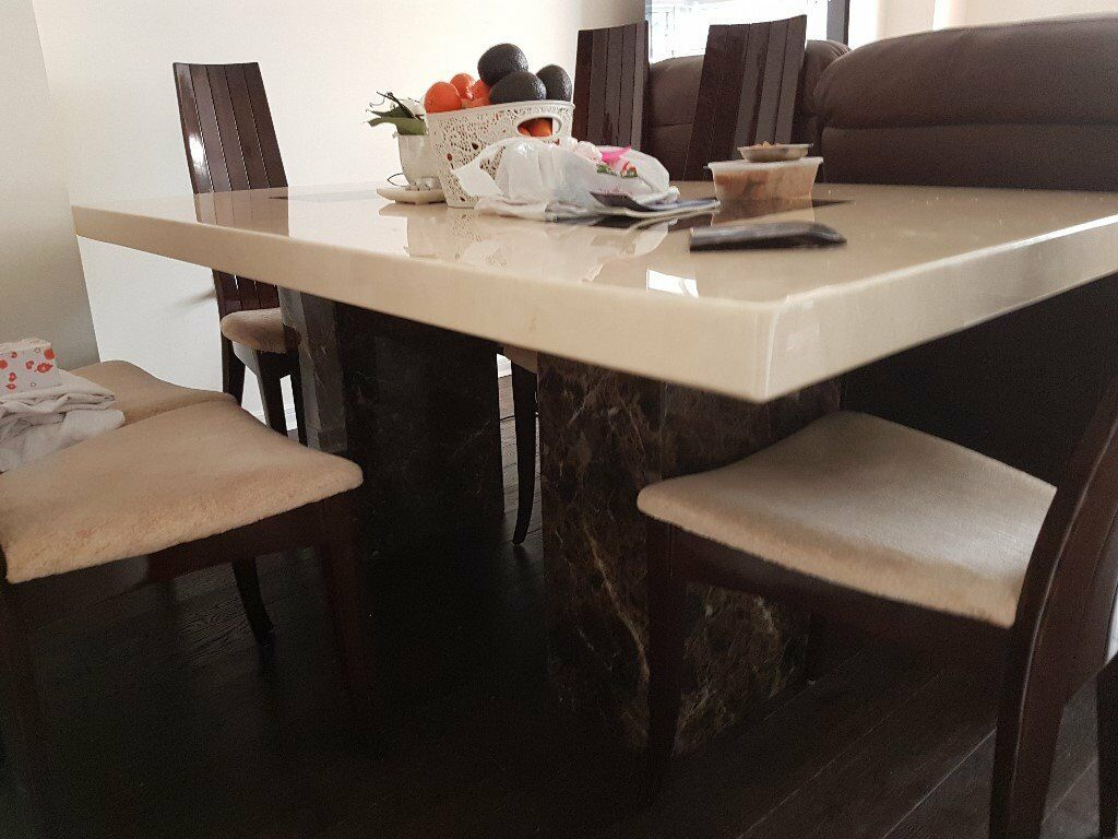 vienna marble dining table dfs | in hayes, london | gumtree