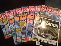 Assortment of Military Aviation magazines from 2014' till present.. 10xCombat Aircraft 5xAirforces
