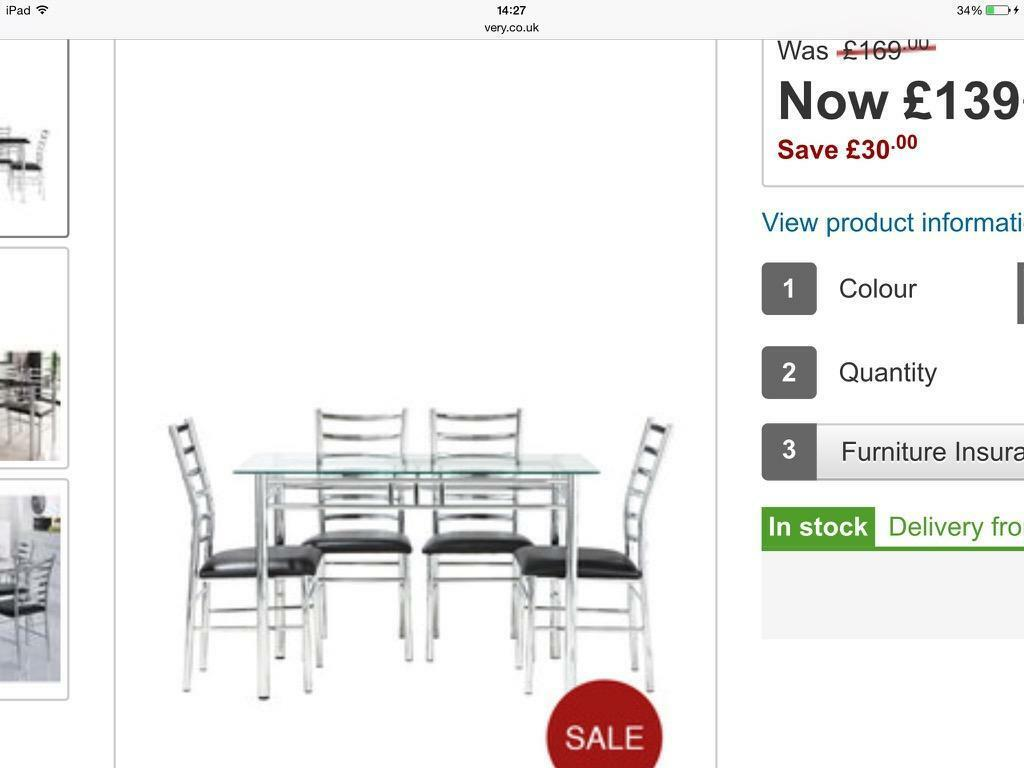 Bistro glass table and 2 chairs Buy sale and trade ads : 86 from dealry.co.uk size 1024 x 768 jpeg 48kB