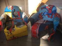 Thomas and Spider-Man arm chairs