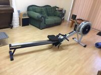 Concept 2 Model D rowing machine with PM3 monitor and heart rate sensor