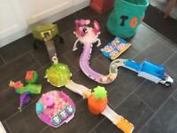 Zhu Zhu hamster set large collection including hamsters, babies fixings accessories and storage bag