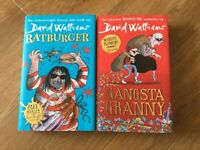 David Walliams - Ratburger & Gangsta Granny Hardback books