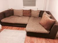 Large left hand corner sofa