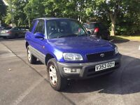 TOYOTA RAV 4 2.0 GX PETROL 4X4 JEEP 3 DOOR UK CAR 1999 V REG AIR CON BLUE LONG MOT 2 OWNERS 115K