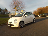 FIAT 500 LOUNGE 1.2 HATCHBACK STUNNING WHITE 2016 ONLY 6K MILES BARGAIN 7750 *LOOK* PX/DELIVERY