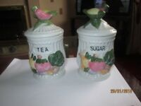TWO LOVELY SUGAR AND TEA HOLDERS