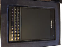 Never Used Blackberry Passport SQW100 Piano Black (SIM FREE)