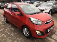 KIA Picanto 1.25 EcoDynamics 2 5dr£3,385 p/x welcome 1 YEAR FREE WARRANTY. NEW MOT