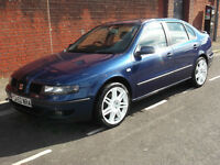 SEAT TOLEDO 2.3 V5 ONLY 92,000 MILES WITH FSH..SAT NAV,LEATHER INTERIOR...TOP SPEC ONLY £600