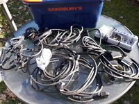 assorted scart & aerial leads