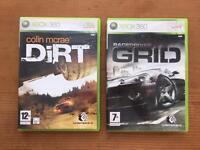 XBox 360 games (x2) Dirt/Grid