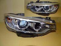 A pair of right hand drive UK Bi-xenon headlights for BMW 4er F32 F33 F36 Gran Coupe RHD UK model