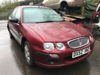 Rover 25 2003 1.4 petrol 5dr red - breaking for spares *wheel nut*