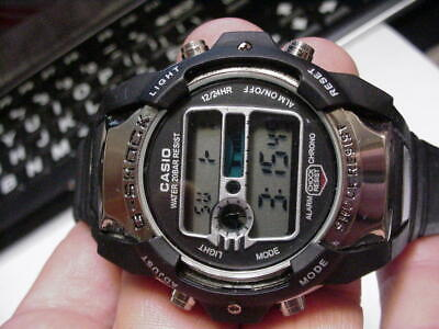 RARE VINTAGE CASIO G-Shock 20BAR Men Watch DIGITAL ALARM CHRONO 2594 JAPAN