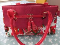 Colourful large ladies handbag
