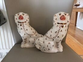 A pair of Kent Porcelain Staffordshire Dogs