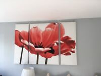 Large red next poppy canvas