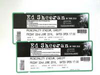 Ed Sheeran x 2 Tickets - SEATED - Friday 22 June 2018 - Principality Stadium - Cardiff