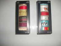Boxes of new ribbon 6 x 2 metre lengths in each box To clear 100 boxes