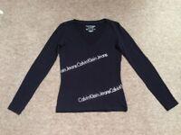 Calvin Klein Jeans Logo Top XS