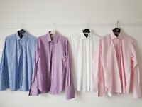 4 Hawes & Curtis Double Cuff shirts. 15.5 V/good condition.