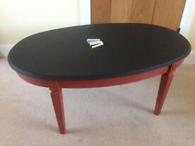 Oval Chalkboard Coffee Table - ideal for playroom