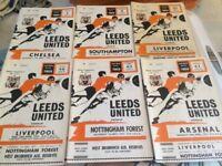 Leeds football programmes