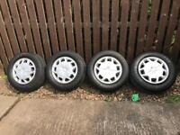 Transit wheels, tyres and wheel trims, 15inch