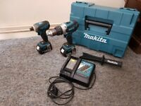Makita 18V Impact And Combi Drill Set