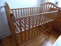 Mamas & Papas baby wooden cot