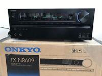 ONKYO TX-NR609 Black 7.2 Channel 160 Watt AV Amplifier Receiver - Dolby Digital, DTS, THX, 4K