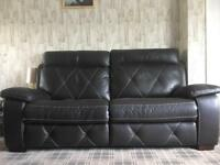 TWO & THREE SEATER SOFT LEATHER LOOK BROWN SOFA