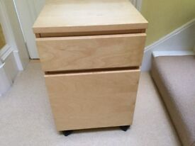 Ikea Malm Drawer unit on castors