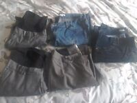 Ladies maternity 12&14 regular jeans & trousers collect ml5