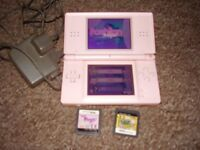 NINTENDO DS LITE WITH GAMES PINK