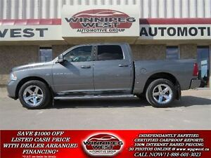 2012 Dodge Ram 1500 SPORT CREW 4X4,LEATHER,ROOF, NAV, MANITOBA T