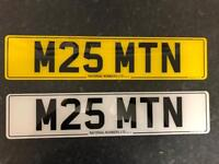 Private Number Plates M25 MTN