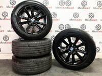 "GENUINE BMW 5 SERIES 17"" ALLOY WHEELS & TYRES - 5 x 120 -GLOSS BLACK - 339"