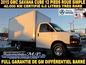 2015 GMC Savana 3500 CUBE 12 PIEDS 42.000 KM MOTEUR 6.0 LITRES R