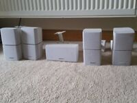 Bose 5.1 Surround sound rare in white with sub wires and papers