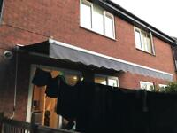Grey Retractable Awning