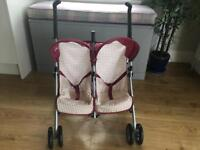 Silver Cross Double Buggy for dolls